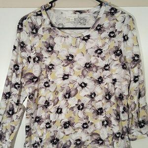J. Jill floral pattern tunic